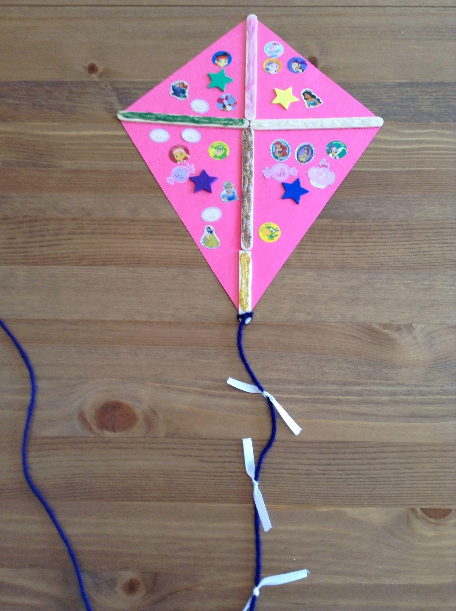 March crafts for kindergarten - K Is For Kite Craft Preschool Craft Letter Of The Week Craft Kids