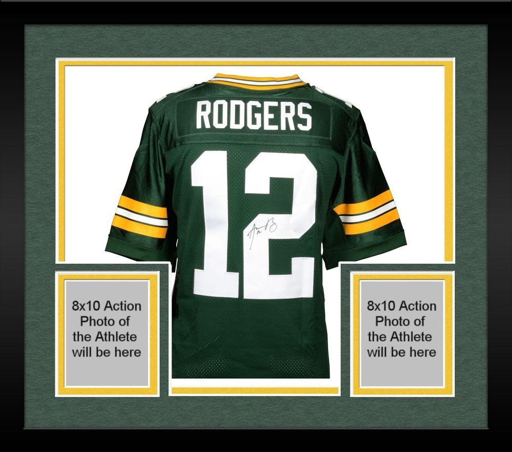 Framed Aaron Rodgers Green Bay Packers Autographed Nike Green Elite Jersey Sportsmemorabilia Autograph Foo Rodgers Green Bay Aaron Rodgers Green Bay Packers