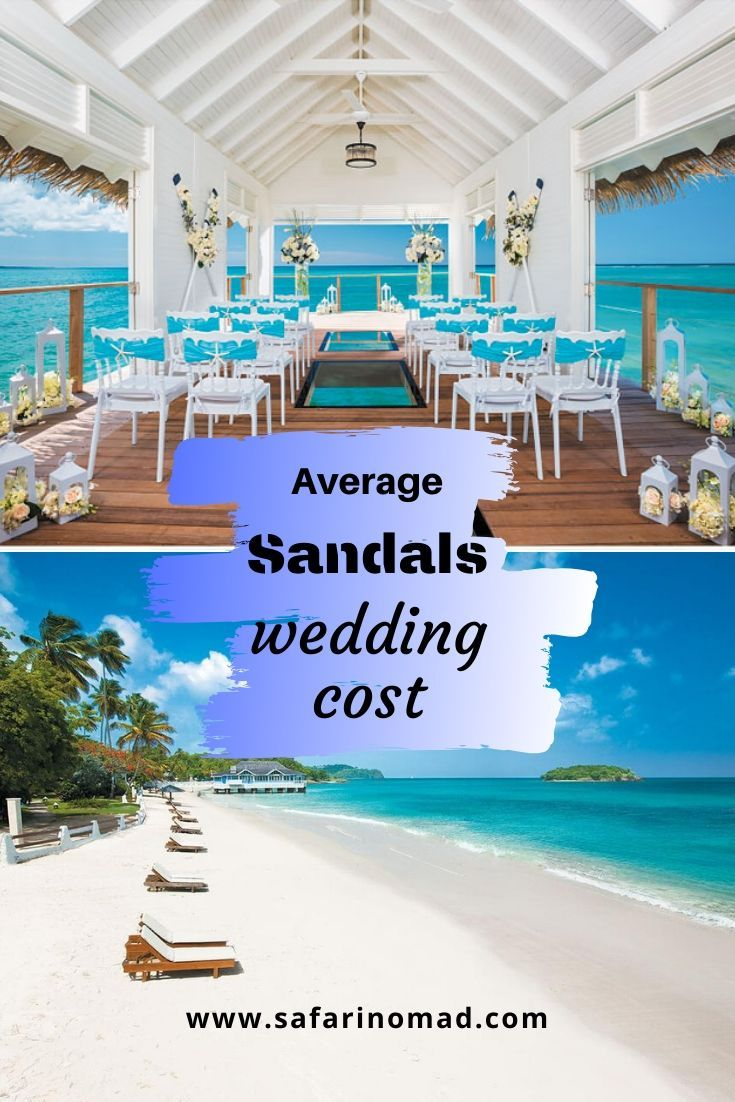 How much does the average sandals wedding cost wedding