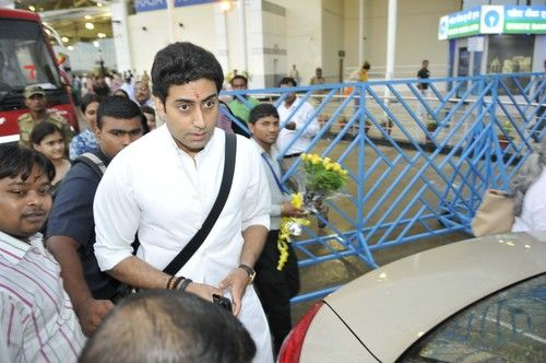Abhishek Bachchan arriving at Raja Bhoj Airport, Bhopal on June 24, 2013