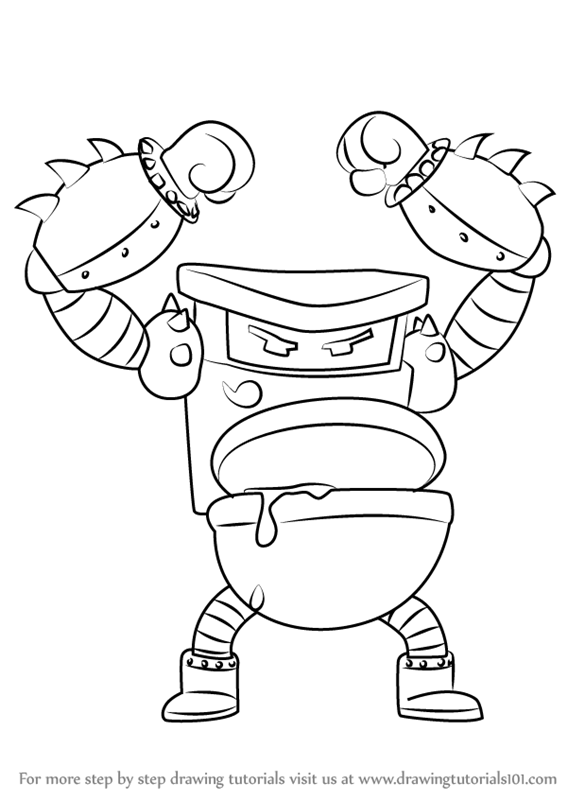 Learn How To Draw Turbo Toilet 2000 From Captain Underpants Movie Captain Underpants Movie Step By Step Drawing T Captain Underpants Drawings Monkey Crafts