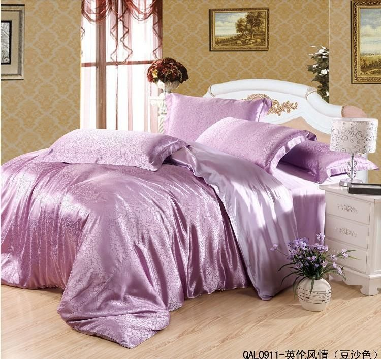 Wholesale Bed In A Bag Buy Luxury Purple Pink Mulberry Silk