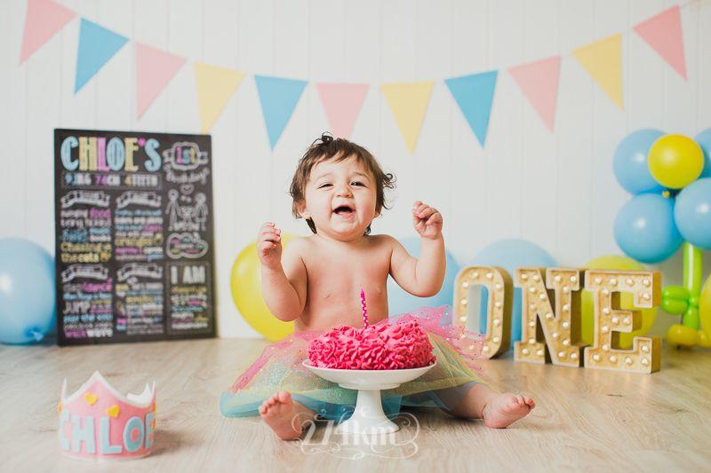 Sesi n de fotos de cumplea os smashcake en estudio en - Cumpleanos de bebes ...