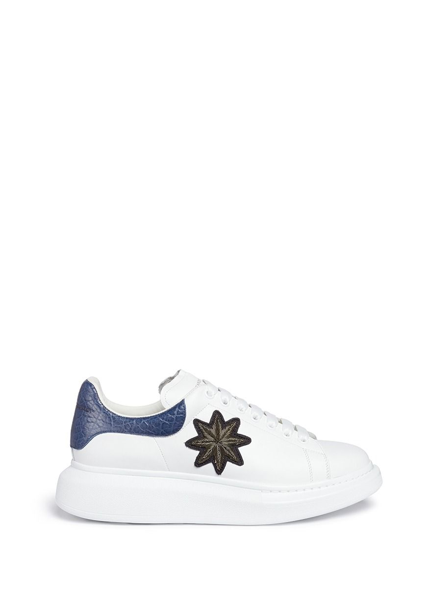 50dbbdf4f510 ALEXANDER MCQUEEN  Larry  star embroidered platform leather sneakers.   alexandermcqueen  shoes  sneakers