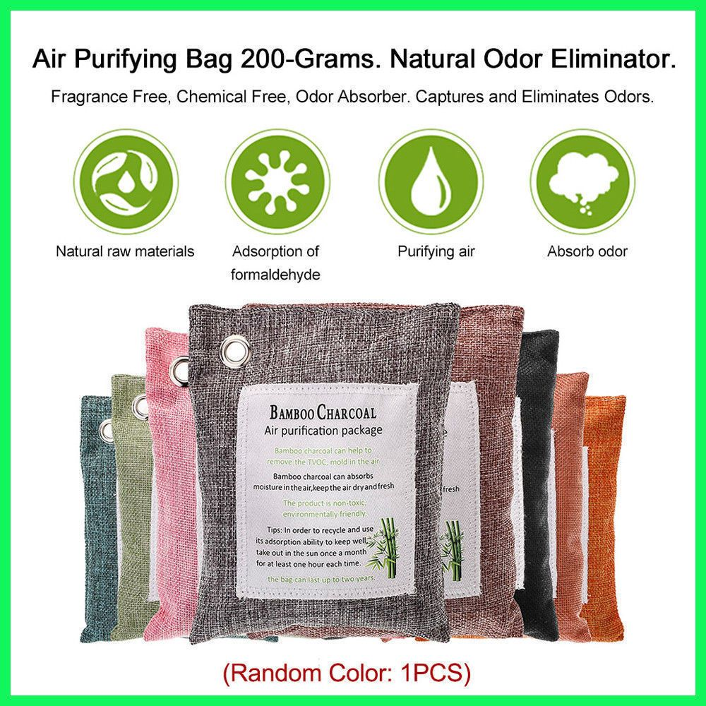 Pack Air Purifying Bag Nature Fresh Style Charcoal Bamboo