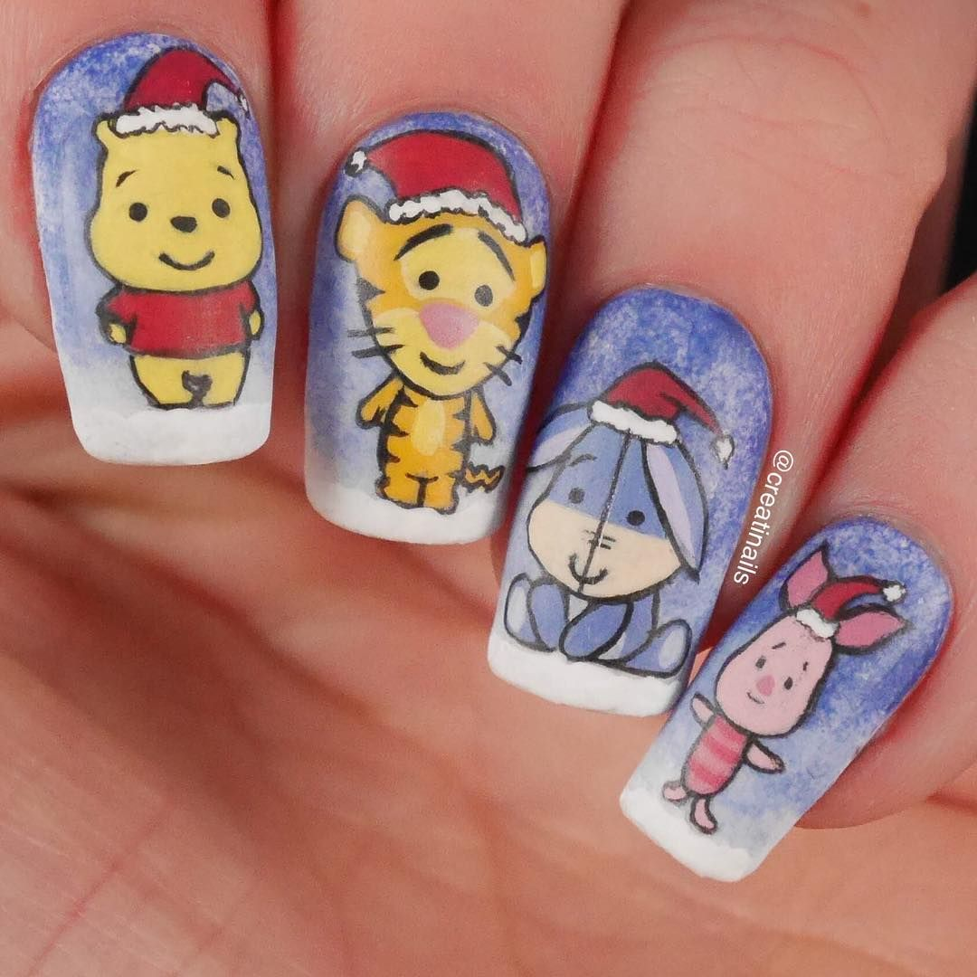 Nine Manis in Honor of Winnie The Pooh Day - - NAILS Magazine | Pop ...