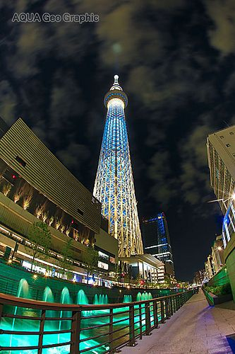 東京スカイツリー ライトアップ 粋  北十間川  Tokyo Sky Tree Light-up