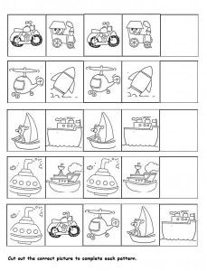 transportation pattern worksheet for kids transportation transportation worksheet preschool. Black Bedroom Furniture Sets. Home Design Ideas