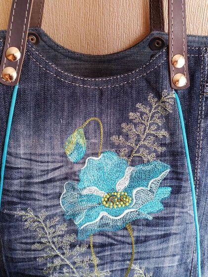 45e98a16a23e Купить или заказать Сумка джинсовая женская Винтажный этюд в  интернет-магазине на Ярмарке Мастеров.