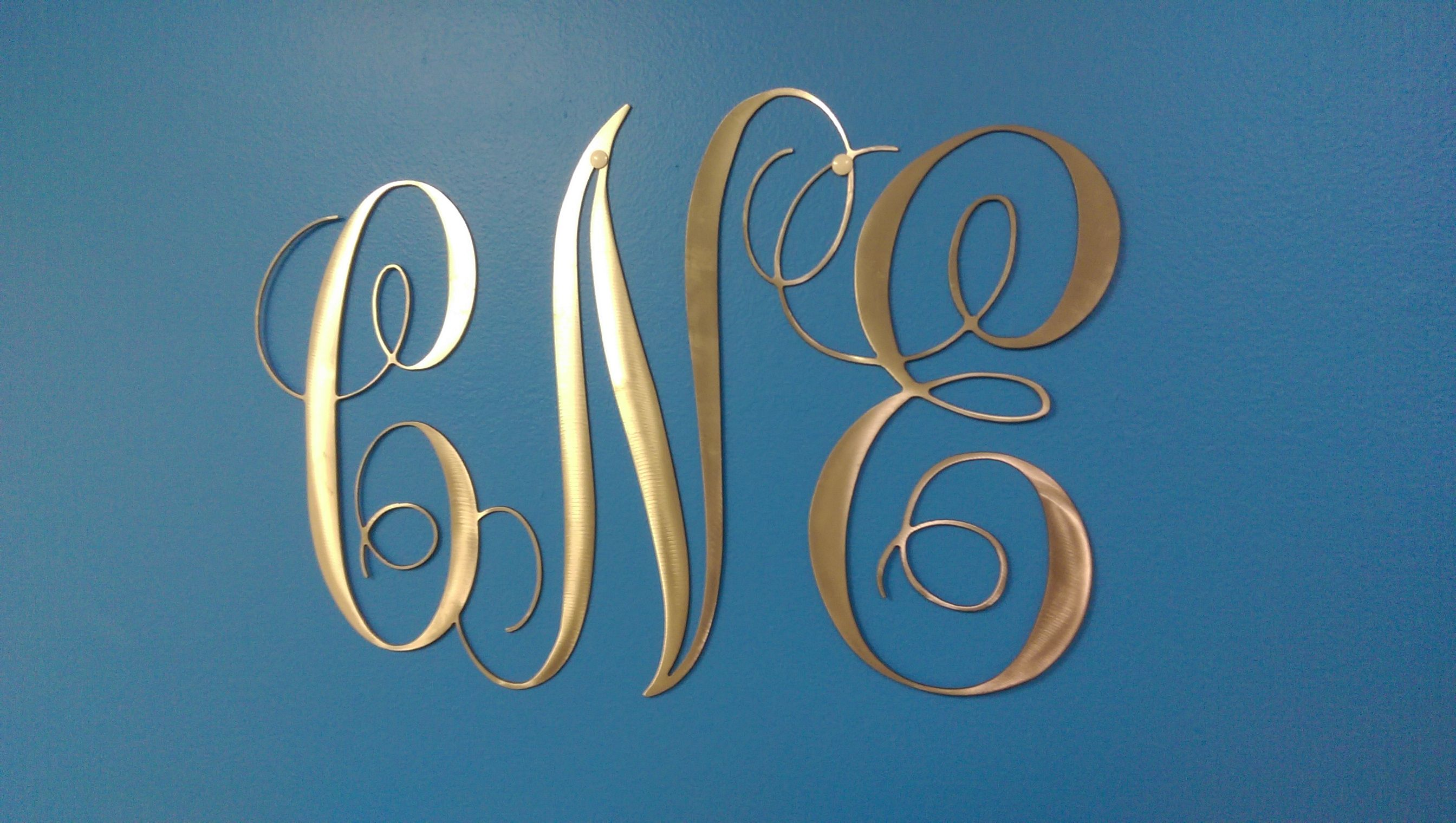 Metal Initials Glamorous Metal Initialsmonograms And Metal Customs  Atlmetalworks Design Ideas