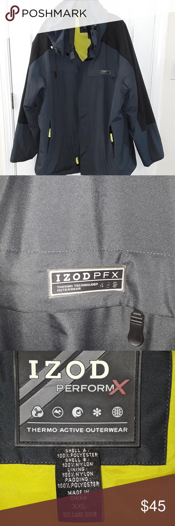 Izod Performx Hooded Jacket Hooded Jacket Outwear Jackets Jackets [ 1740 x 580 Pixel ]