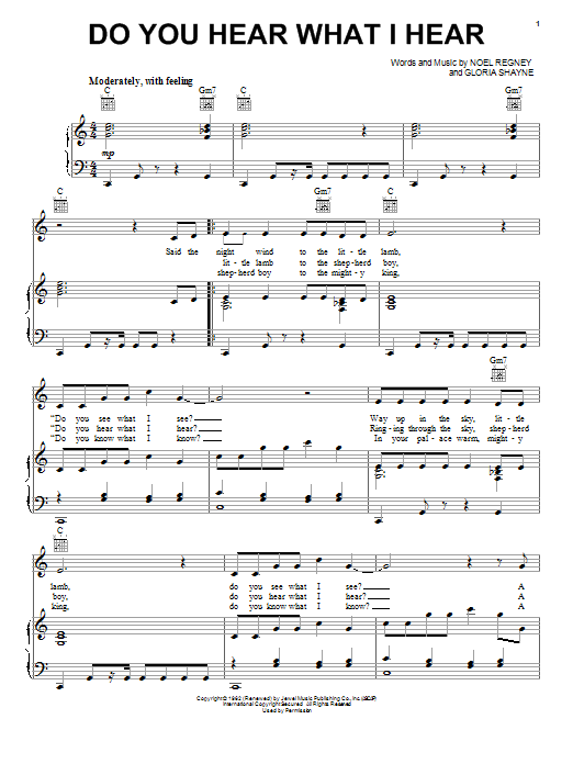 do you hear what i hear sheet music free - Google Search | Musik ...