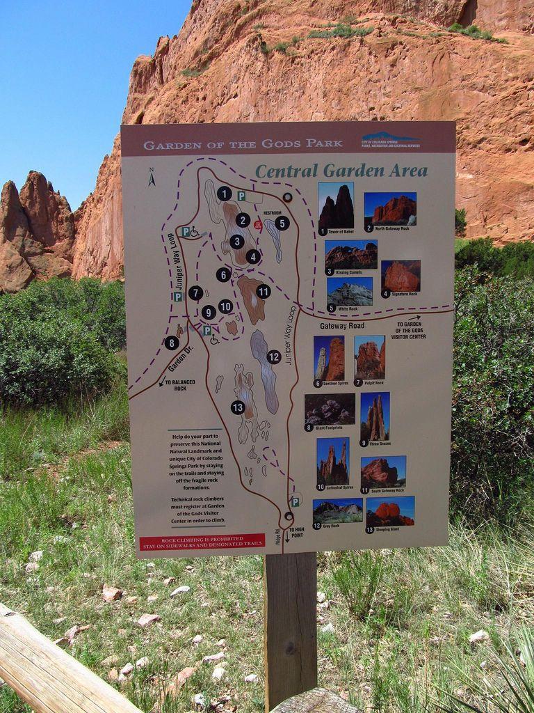 Garden of the Gods Area map, Garden, Colorado