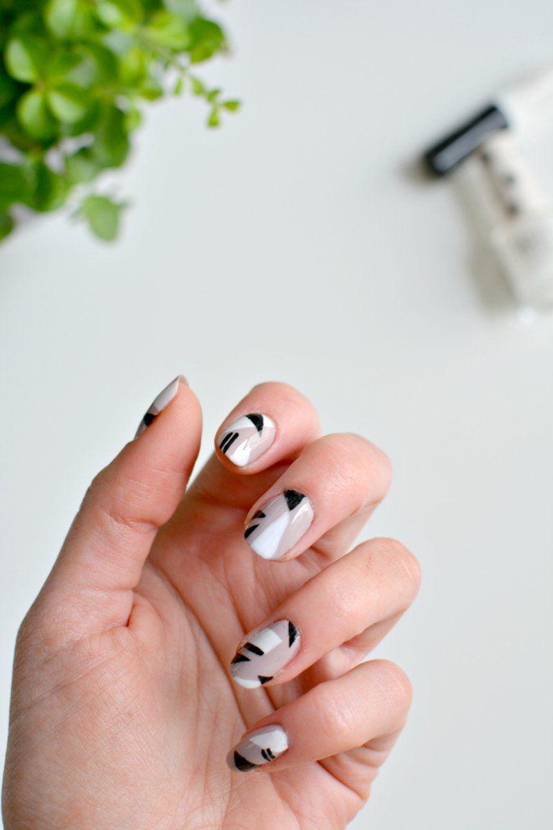 nails   Pinterest   Geometric nail art, Neutral nail polish and ...