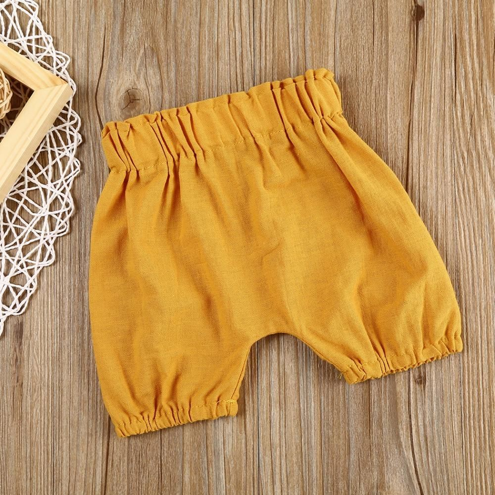 Spring Fling Ruched Linen Toddler Shorts #toddlershorts