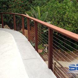 Raised Patio Railing Driveway