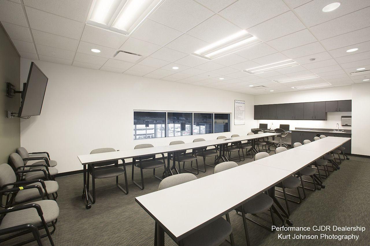 Conference room at performance cjdr dealership bellevue