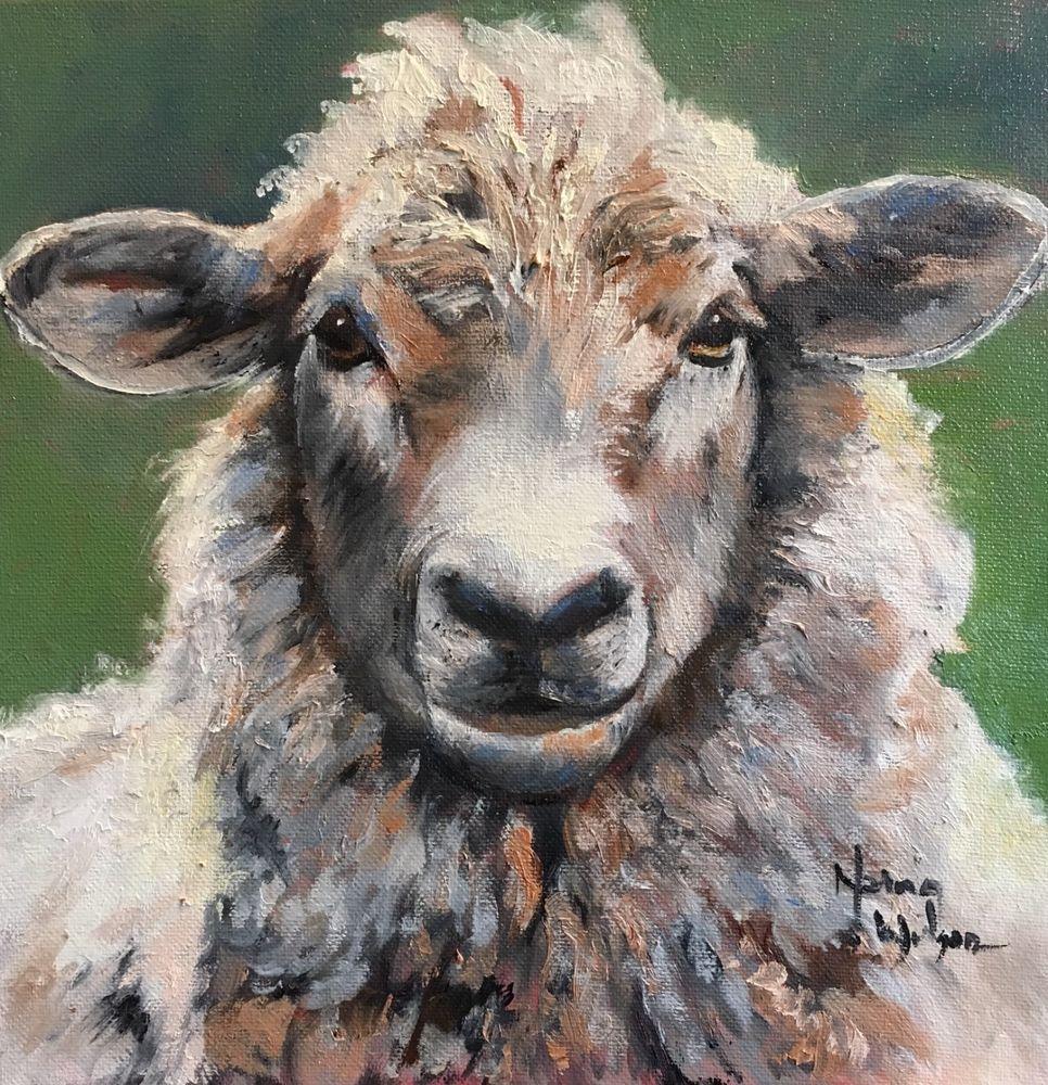 Impressionistic Sheep Watercolor Art Watercolor Sheep Painting