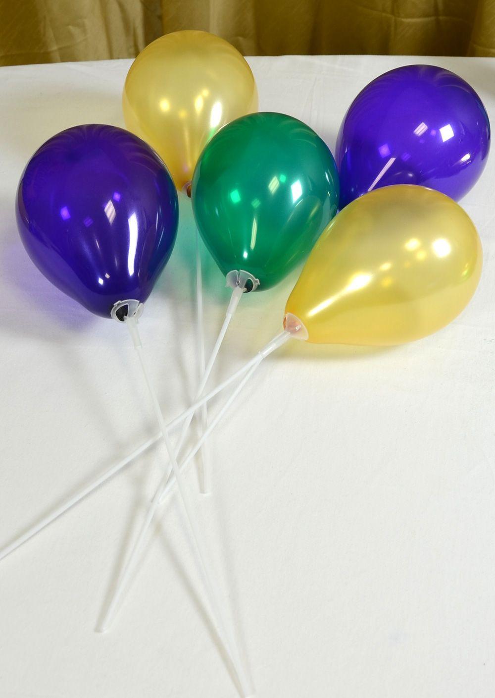 Balloons on sticks and cups graduation pinterest