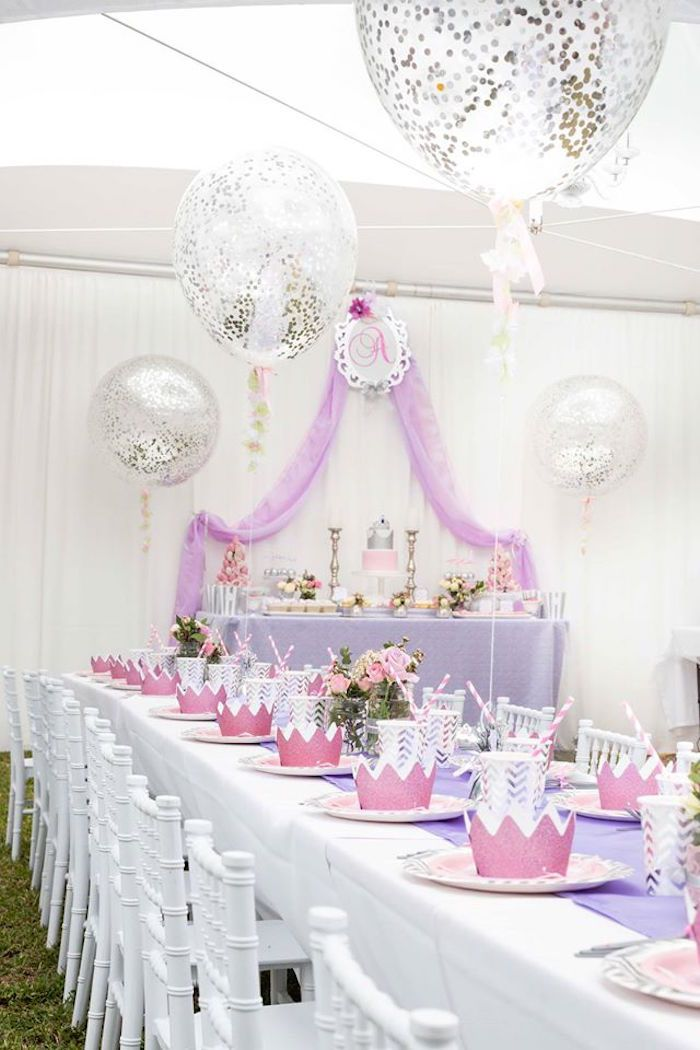 Elegant Purple Princess Birthday Party on Karas Party Ideas