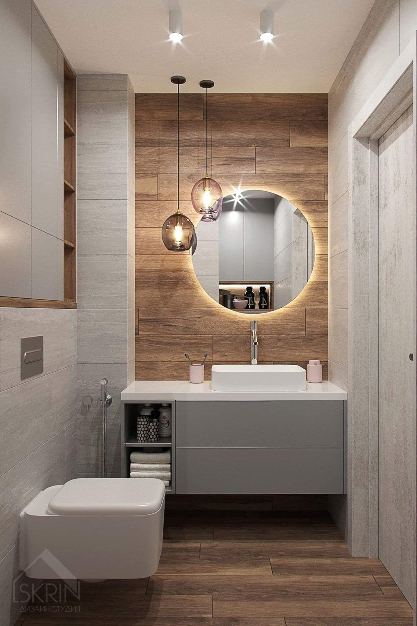 Contemporary Neutral Tile Warm Wood Tones Asymmetrical Contemporary Bathroom Tiles Bathroom Design Small Luxury Bathroom