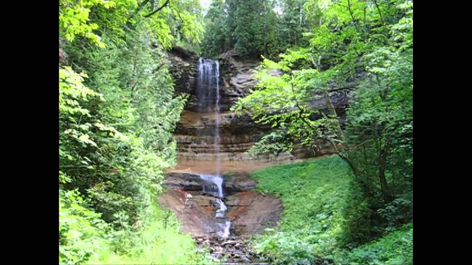 Ocqueoc Falls In The Lower Peninsula Of Michigan