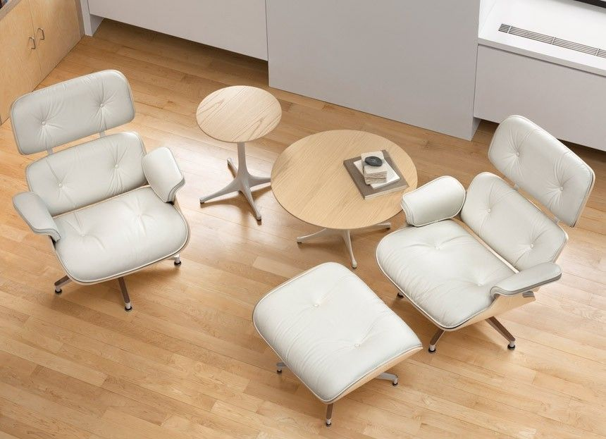 herman miller eames lounge chair and ottoman white ash lounge
