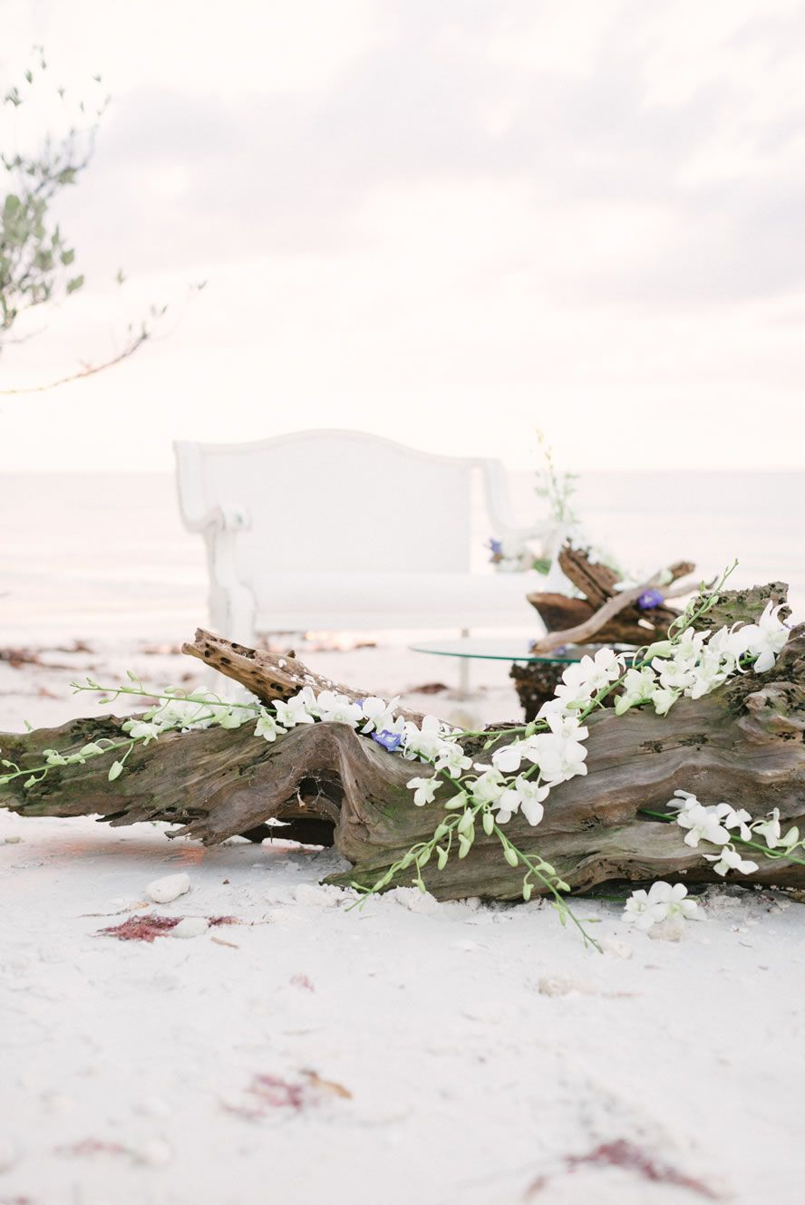 Honeymoon Island » Tampa, Orlando Wedding & Event Design | FH Weddings & Events | Florals, Lighting, Specialty Furniture, Modern & vintage furniture Draping
