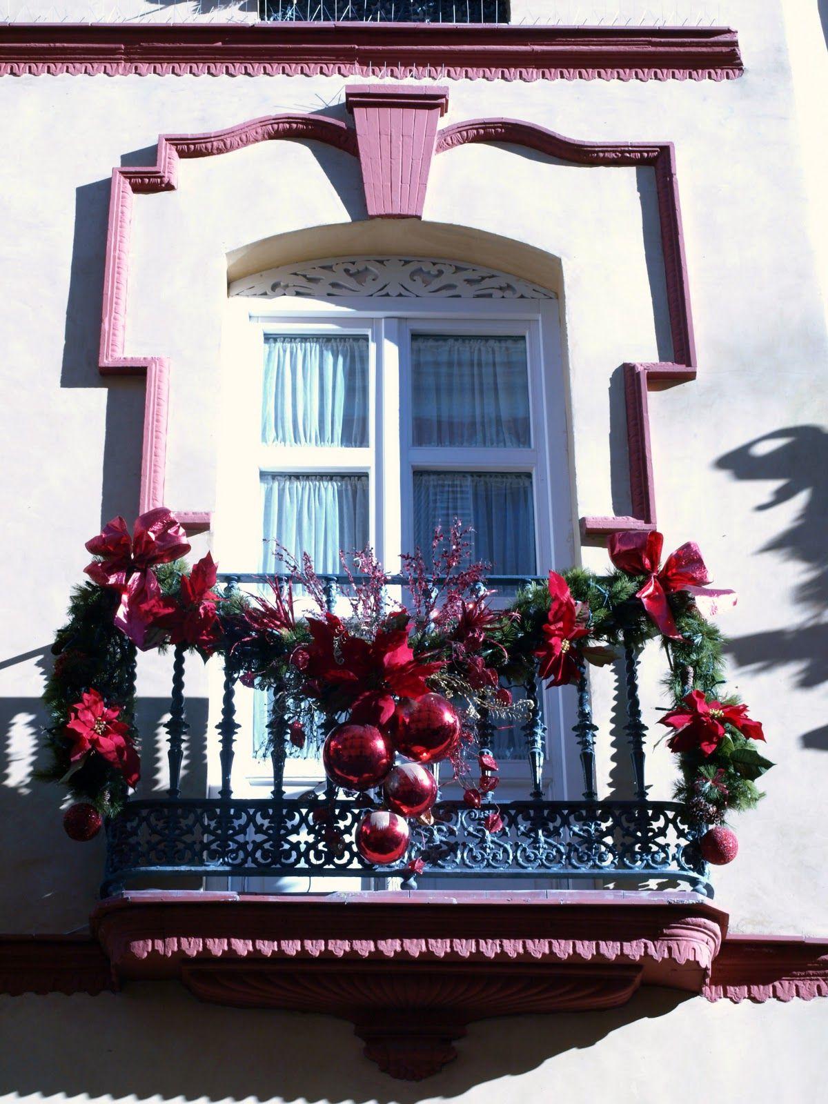 Decorar El Balcon En Navidad.Balcon Navidad Decoracion Navidad Balcones Decoracion