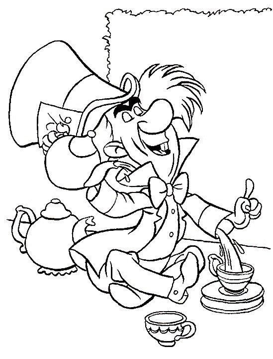 Desenhos para pintar Alice no País das Maravilhas 5 | Riscos ...