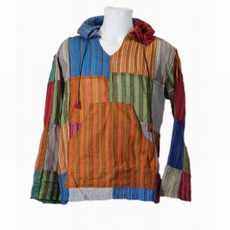 f591b2dfb6 Gringo Patchwork Shirt w Hood   Kangaroo Pouch
