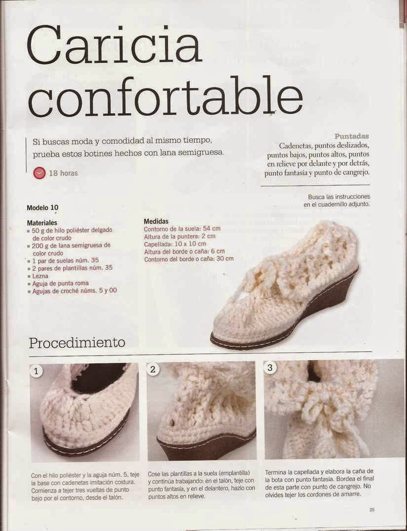 Instrucciones de Botines | shoes | Pinterest | Crochet