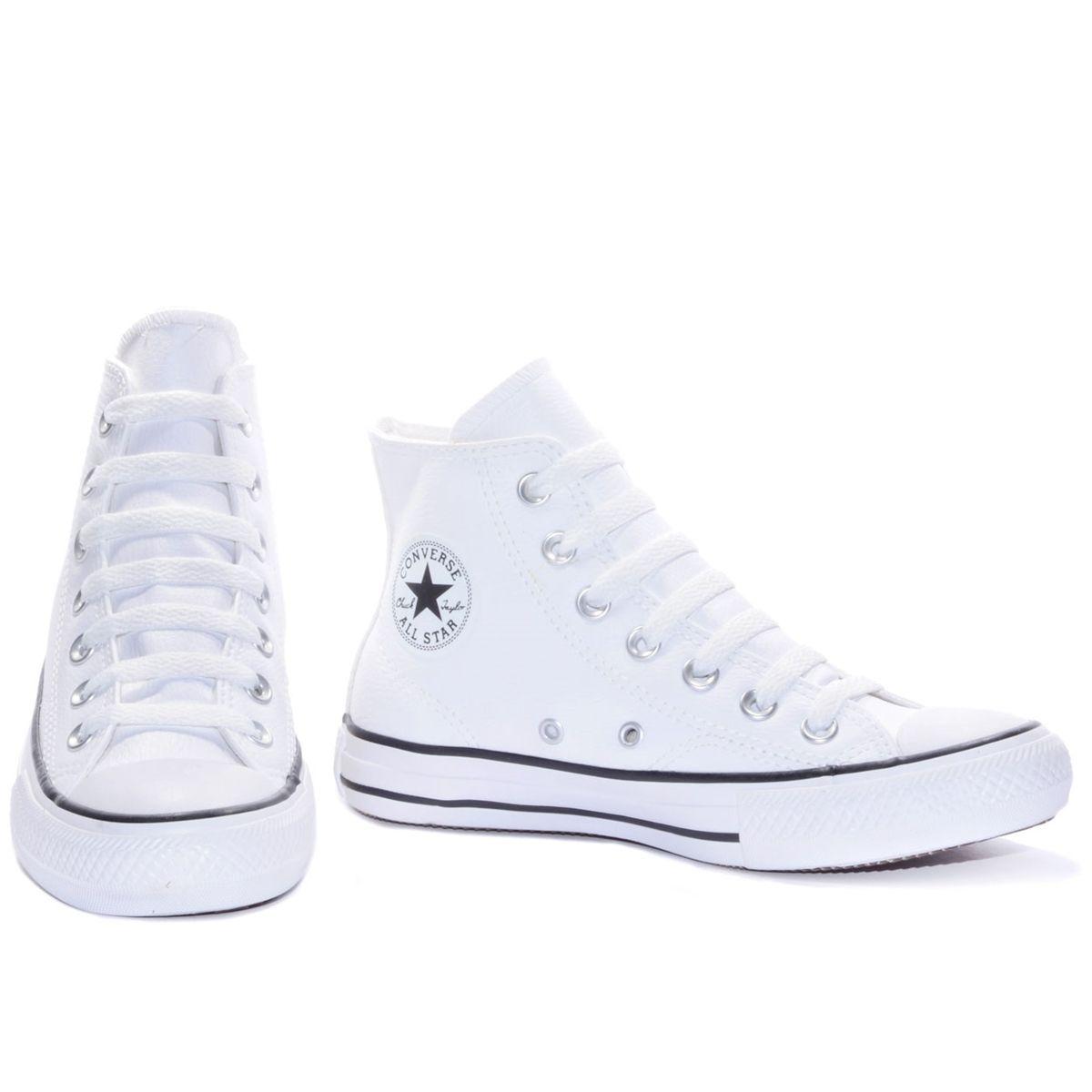 0fba31116 All Star cano médio branco