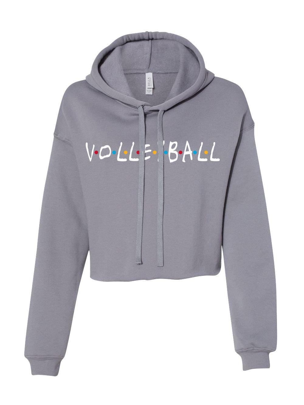 Friends Crop Hoodie Midwest Volleyball Warehouse Volleyball Outfits Volleyball Hoodie Volleyball Sweatshirts