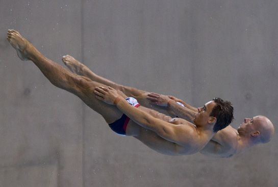 Tom Daley and his diving partner