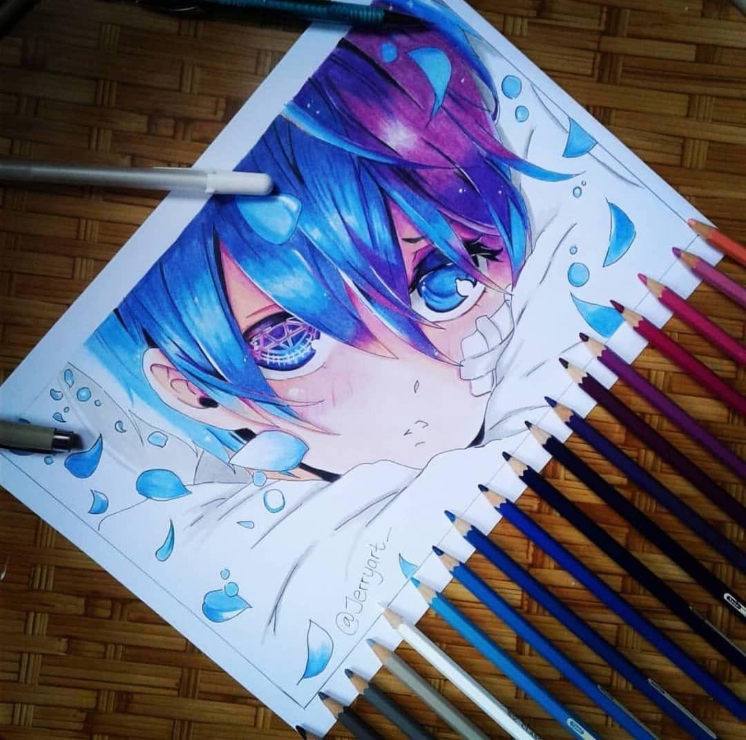 Ciel By Jerryart Are You An Anime Artist Visit Your Second Home Animeignite Com Kuroshitsuj Boca Manga Desenho De Anime Arte Anime