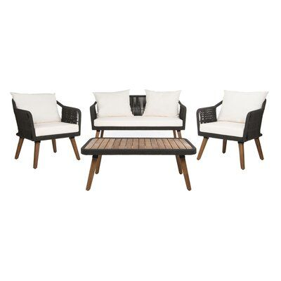 Foundstone Sally 4 Piece Sofa Seating Group with Cushions ... on Safavieh Raldin  id=47939