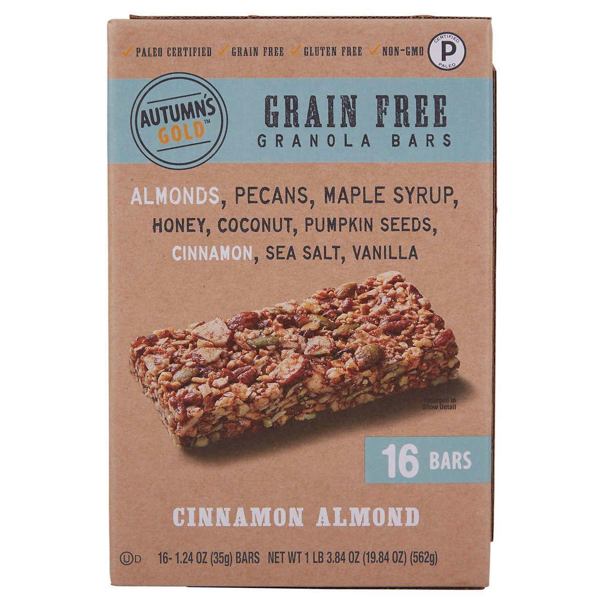 Autumn S Gold Granola Bar Cinnamon Almond 1 24 Oz 16 Count Cinnamon Almonds Grain Free Granola Bars Grain Free Granola