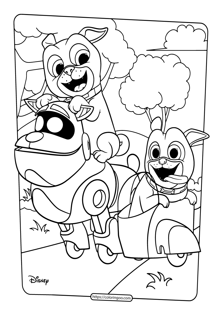 Printable Puppy Dog Pals Coloring Book Pages 02 3 Puppy Coloring Pages Dog Coloring Page Disney Coloring Pages