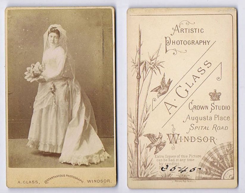 CDV Victorian Bride in Wedding Gown Carte de Visite Photo by Glass of Windsor | eBay