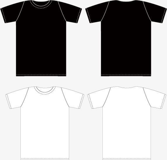벡터 흑백 티셔츠 정면과 뒷면에 템플릿 Free T Shirt Design Black And White T Shirts T Shirt Png