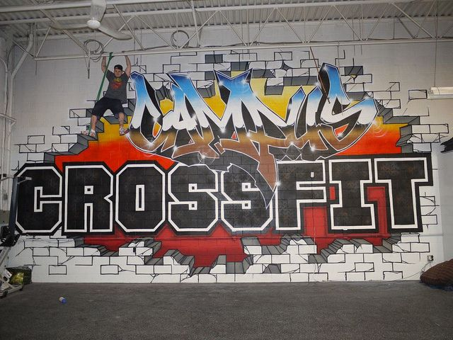 Small High Impact Decor Ideas: Gym Mural - Google Search