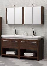 Bathroom Double Sink Vanity Units. Aqua Decor Sparta Walnut Double Sink Modern Bathroom Vanity Set W  Medicine Cabinet double vanity bathroom Google Search a idea
