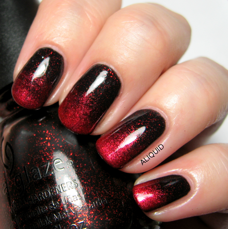 ALIQUID: The Neverending Pile Challenge: Vampy gradient | Nail art ...