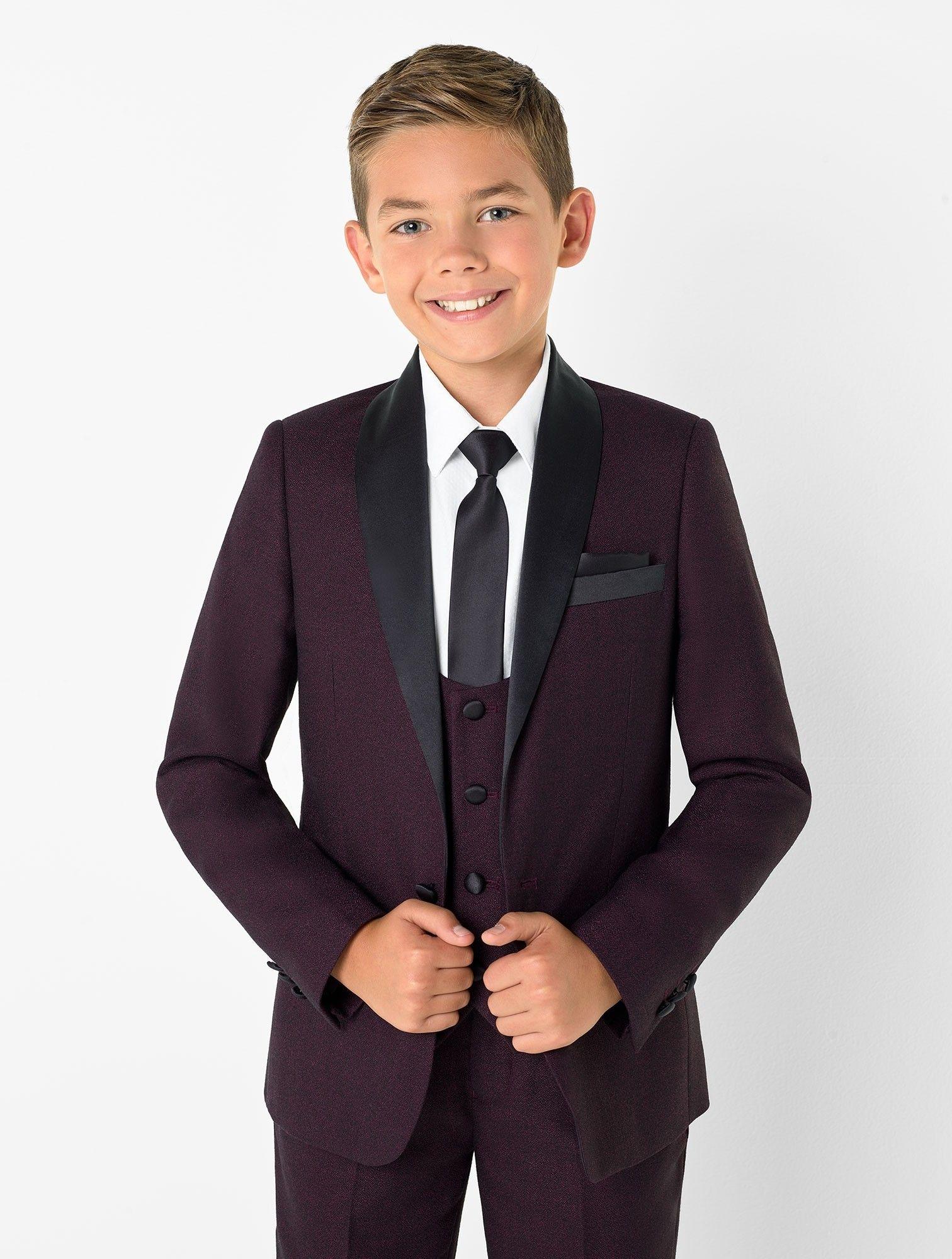 Boys burgundy tuxedo Jackman Burgundy suit, Kids