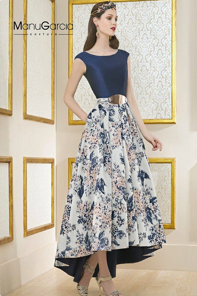 e5334f216 Vestido de fiesta estilo velvet, color azul con falda tail hem en ...