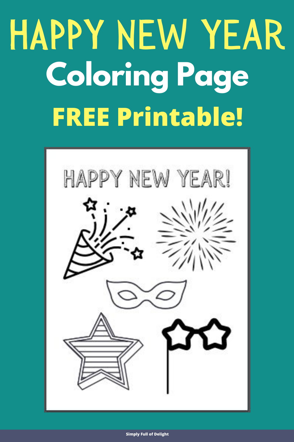 New Year S Eve Coloring Page New Year Coloring Pages Free Kids Coloring Pages