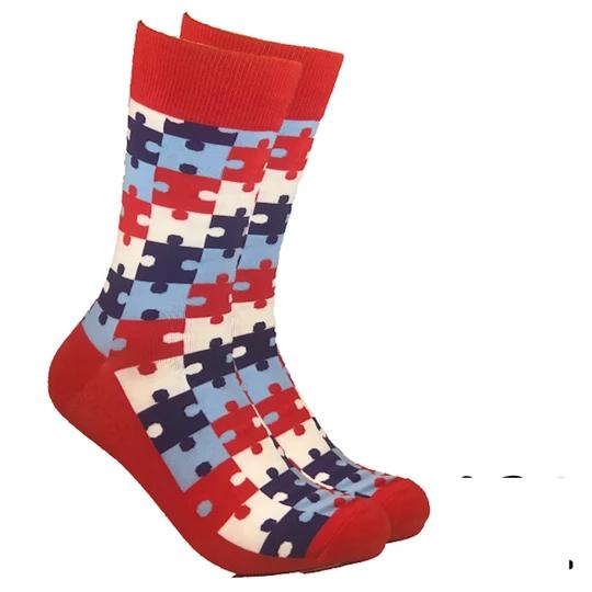 Puzzle Socks In 2020 Socks Crazy Socks Sock Drawer