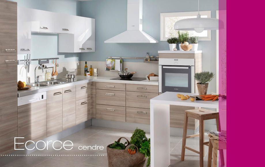 cuisine ecorce cuisines en kit lapeyre cendre cuisine pinterest cuisine en kit. Black Bedroom Furniture Sets. Home Design Ideas