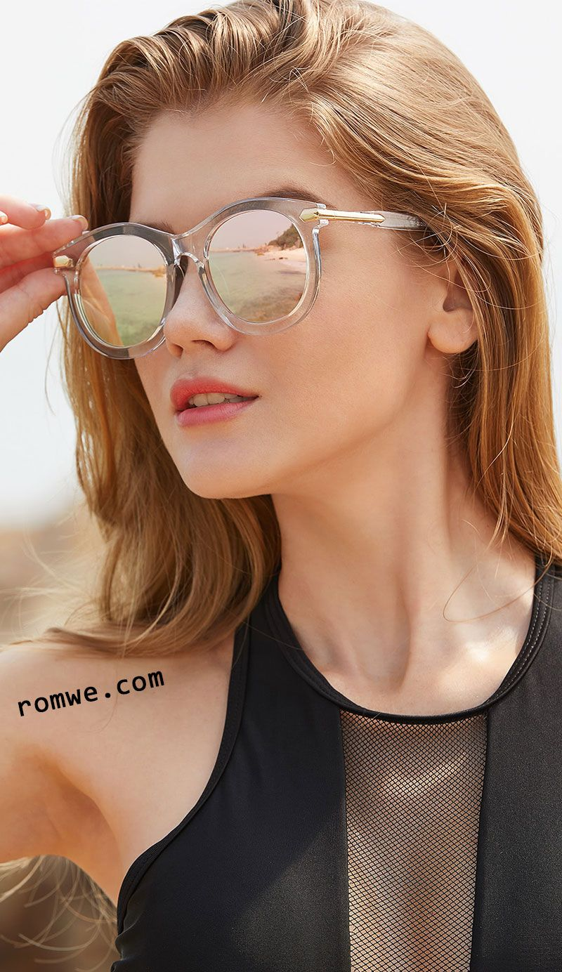 0c703c3c0895 Clear Frame Mirror Lens Sunglasses   Things you wear in 2019 ...